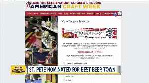 News video: St. Petersburg nominated for 'America's Top 10 Towns for Craft Lovers'
