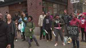 News video: Protesters Again Gather At Starbucks After Controversial Arrests