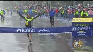 News video: Desi Linden First American Woman To Win Boston Marathon In 33 Years