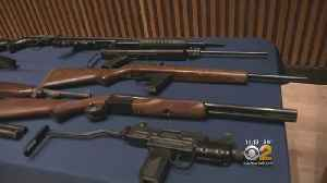 News video: Police Seize Dozens Of Weapons In Queens