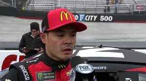 "News video: Kyle Larson on losing lead to Kyle Busch at Bristol: ""That gets frustrating after awhile"