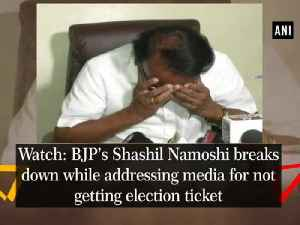 News video: Watch: BJP's Shashil Namoshi breaks down while addressing media for not getting election ticket