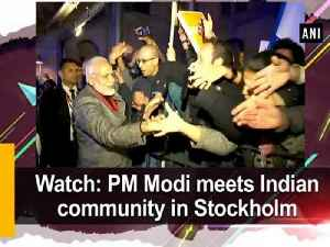 News video: Watch: PM Modi meets Indian community in Stockholm