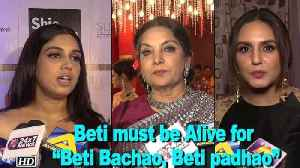 "News video: Actresses want JUSTICE | Beti should be Alive for ""Beti Bachao, Beti padhao"""