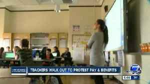 News video: Colorado teachers rally for higher pay, better pension at state Capitol