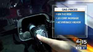 News video: Gas prices on the rise in Arizona