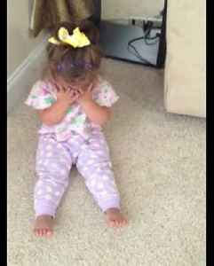 """News video: """"A Tot Girl Stops Crying When Her Mom Suggests Shopping"""""""