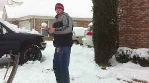 """News video: """"Young Man Gets Knocked Down With A Giant Snowball"""""""