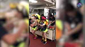 News video: Japanese Beer Girls Re-fuelling F1 Pit Stop Style