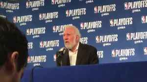 News video: San Antonio Spurs coach dismisses story that a fan is turned off by his political comments
