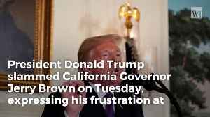 News video: Trump Slams California Governor For Not Using Troops To Protect Border