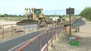 News video: Crews remove sediment from wash to help prepare for Monsoon