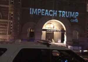 News video: 'Rapist in White House' Message Projected on DC Trump Hotel