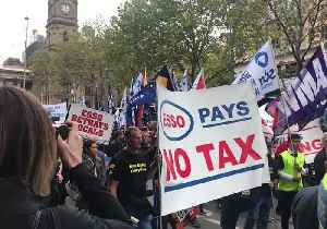 News video: Unionists Rally Against Esso in Melbourne
