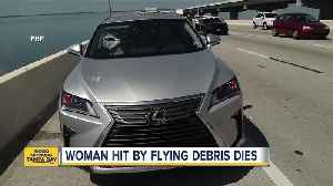 News video: Woman dies after piece of metal crashes through windshield on I-275