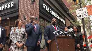 News video: Protests Continue Outside Philadelphia Starbucks After Viral Arrest Video