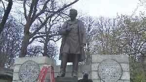 News video: Controversial Statue Being Moved
