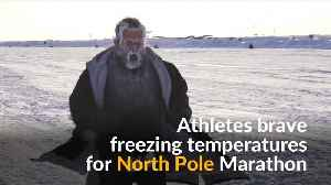 News video: Runners brave freezing conditions for North Pole Marathon