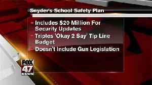 News video: Snyder calls for upgrading security at Michigan schools