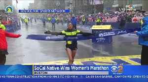 News video: SoCal Native First American Woman To Win Boston Marathon Since 1985
