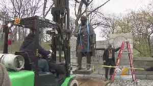 News video: Controversial Statue Removed From Central Park
