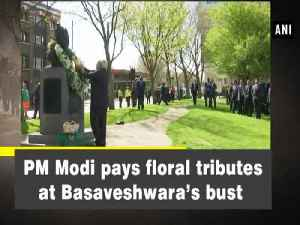 News video: PM Modi pays floral tributes at Basaveshwara's bust