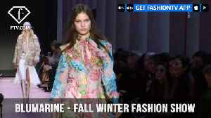 News video: Blumarine Stuns on the Pink Runway with Fall/Winter Fashion Show 2018-19 | FashionTV | FTV