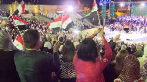 News video: Amid raging war, Syria defiantly celebrates its independence day