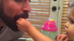 News video: A Little Girl Feeds Her Dad While He Pretends To Be A Bird