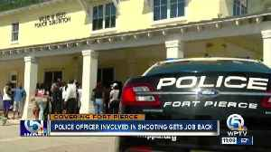 News video: Police officer involved in fatal shooting of unarmed man will get his job back