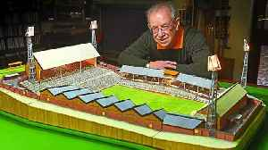 News video: Matchstick molineux: Fan builds replica of club in matchsticks
