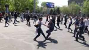 News video: Demonstrators Against Armenian Prime Minister's Election Clash With Police