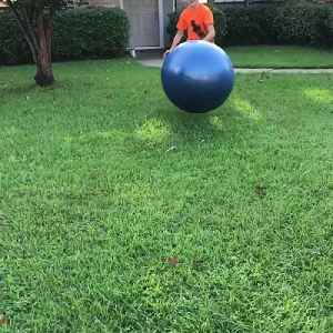 News video: Boy Eats It Trying To Bounce Off Yoga Ball