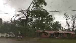 News video: Tornado Rips Roof off Building