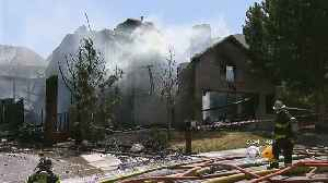 News video: Winds Fuel Fire That Burns Homes In Castle Rock