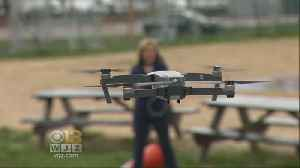 News video: Drones Whip Through The Sky In Light City's 2nd Drone Prix