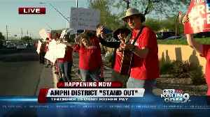 News video: Supporters gather at major intersections along a 17-mile stretch of Oracle Rd., from Coronado K-8 to Nash Elementary in support