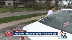 News video: Uber driver punched in the face for refusing ride to teens