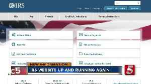News video: Tax Deadline Extended After IRS Website Crashes