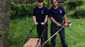 News video: Firefighters Mow Lawn for Army Veteran After Taking Him to Hospital