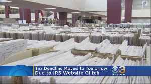 News video: Taxpayers Receive An Extra Day To File Due To IRS Computer Glitches