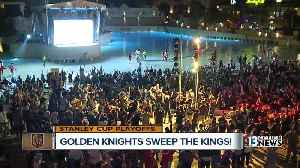 News video: Golden Knights fans celebrate series win over Kings