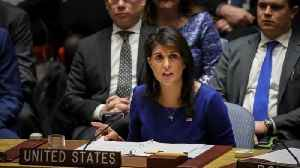 News video: Haley Says She Wasn't Confused About Russia Sanctions