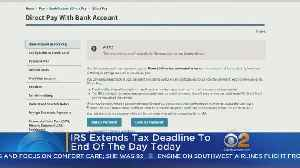 News video: IRS Extends Tax Deadline To End Of The Day Today