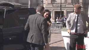 News video: Prince Harry and Meghan Markle Greet Delegates at Commonwealth Reception