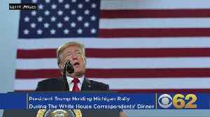 News video: Trump To Hold Rally At Total Sports Park in Washington, Mich. The Night Of White House Press Dinner