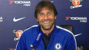 News video: Conte laughs off wife's mid-news conference 'phone call