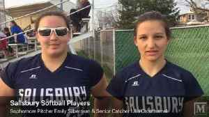 News video: Salisbury softball players Emily Silberman and Lilia Crouthamel talk about recent win over Pen Argyl