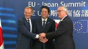News video: EU pushes to hasten start of Japan trade deal