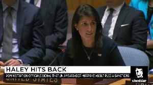 News video: What Does the White House's Conflict With UN Ambassador Haley Mean?